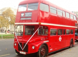 Classic Red London Bus for weddings in London